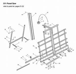 Powermatic 511 Vertical Panel Saw Parts  1510007
