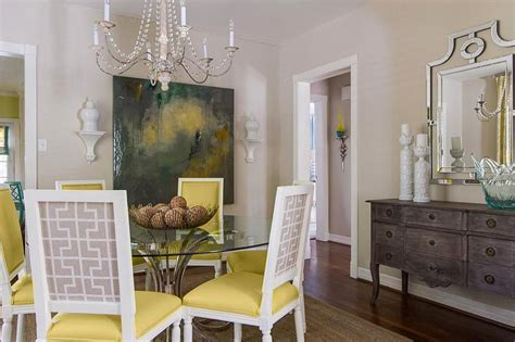 Yellow And Gray Dining Chairs