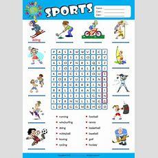 Sports Esl Printable Worksheets For Kids 1