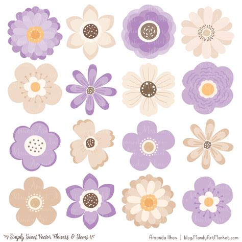 lavender flower clipart vectors
