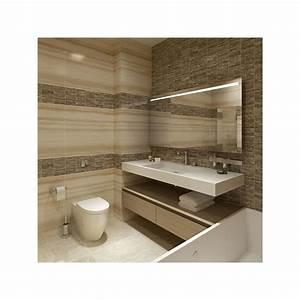 miroir avec luminaire simple bandeau With porte d entrée pvc avec bandeau lumineux salle de bain