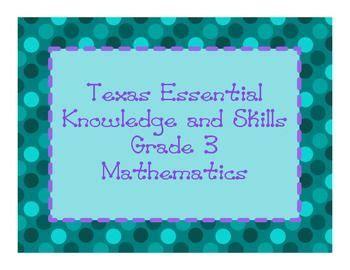 TEKS Grade 3 Mathematics Objectives (Texas Essential Knowl ...