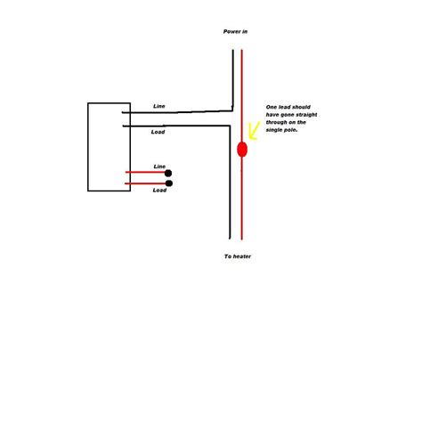 two pole baseboard heater thermostat wiring diagram two
