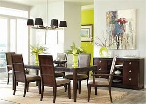 Formal contemporary dining room sets with brown finish for Contemporary formal dining room sets