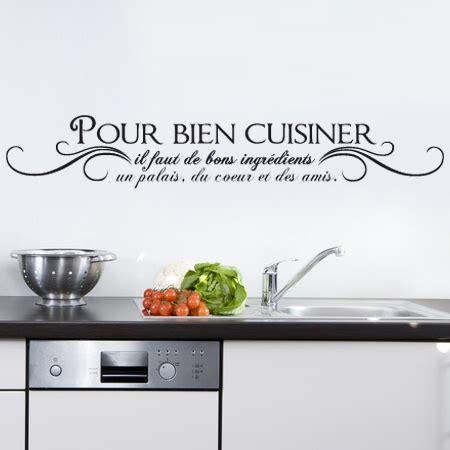 stickers muraux cuisine citation stickers pour bien cuisiner stickers malin