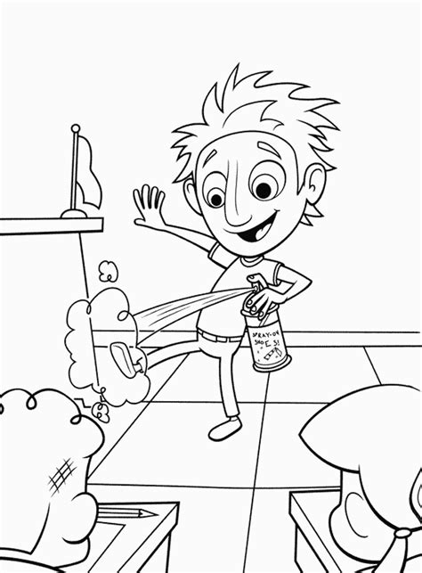 cloudy   chance  meatballs coloring pages    print