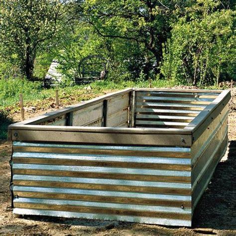 corrugated metal garden beds corrugated iron raised garden beds corrugated iron