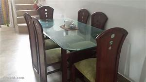 6 chair glass top dining table furniture for sale in for Home furniture for sale in karachi