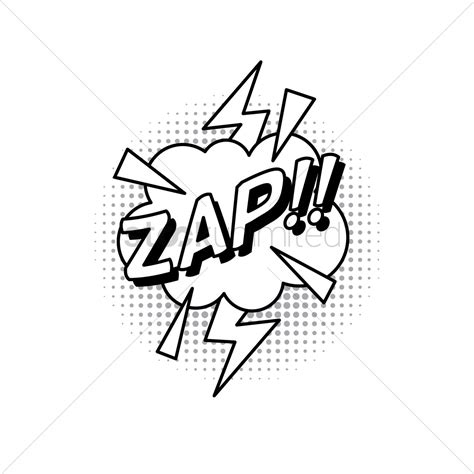 zap clipart black and white comic effect zap vector image 1824277