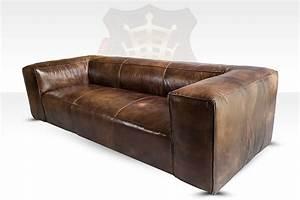 Lounge Sofa Leder : lounge sofa tribeca 3 sitzer leder antique whisky halo est ~ Watch28wear.com Haus und Dekorationen