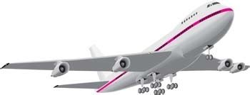 airbus commercial flight  vector  adobe illustrator