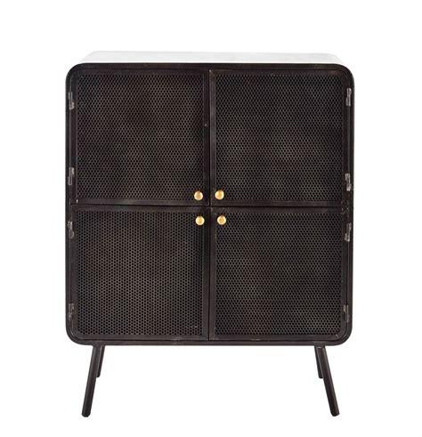 black metal storage cabinet metal storage cabinet in black w 80cm knokke maisons du