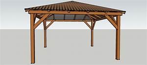 Pavillon Aus Holz Selber Bauen : gartenpavillon 4 x 4 meter mit spitzdach aus holz zum ~ A.2002-acura-tl-radio.info Haus und Dekorationen