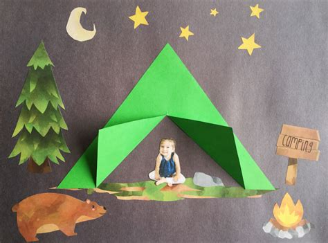 camping projects for preschoolers camping craft family crafts 244