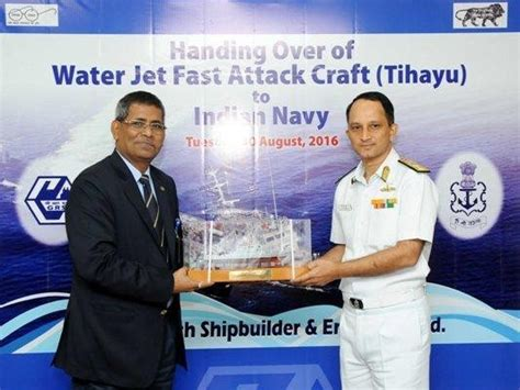 press information bureau indian navy gets fast attack craft 39 tihayu 39