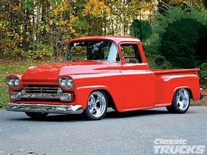 59 Chevrolet Truck Shaved And Lowered  Like The Red  Needs Visor And Red Smoothies