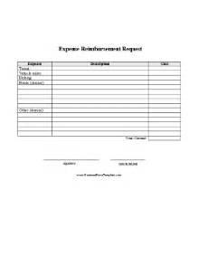 expense reimbursement request report template