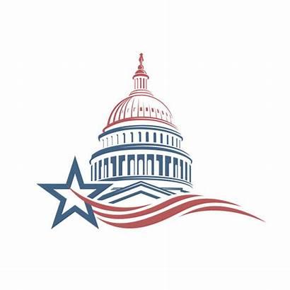 Capitol Hill Washington Building Dc Vector Icon