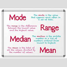 Mode, Mean, Median And Range Explained  What Are Mode, Mean, Median And Range? Theschoolrun