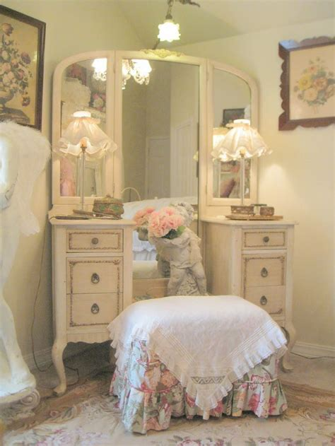 shabby chic vanity vanity stool country and shabby chic decor pinterest