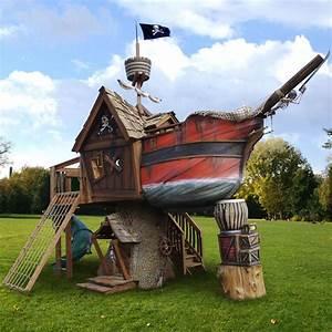 Pirate Ship Tree Playhouse By Daniels Wood Land - eXtravaganzi