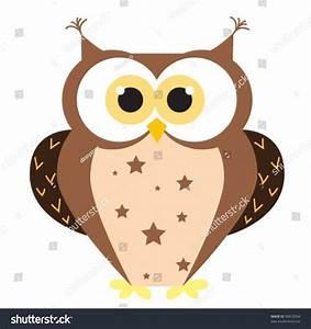 Cute Cartoon Owl Vector Illustration Stock Vector 90610504 ...