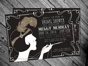 192039s gatsby flapper bridal shower invitation 2058856 With wedding invitations 1920 s theme