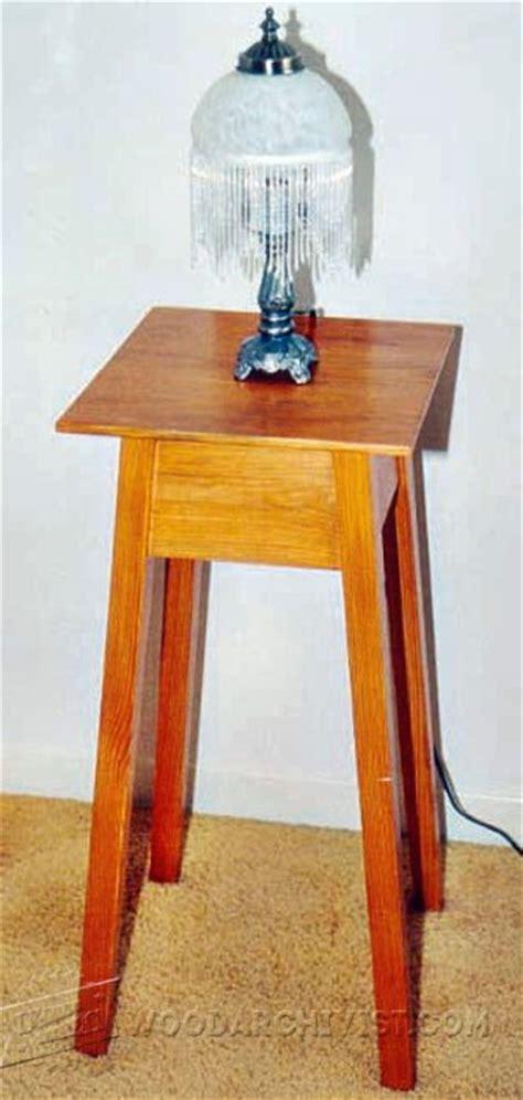 pedestal base table plans woodarchivist