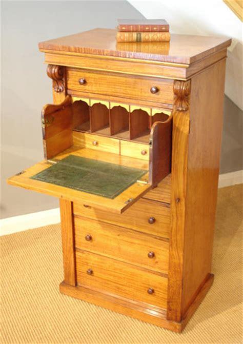 bureau secretaire antique satinwood wellington chest bureau and secretaire