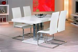 table de salle a manger design blanche 160x90 With table design salle a manger