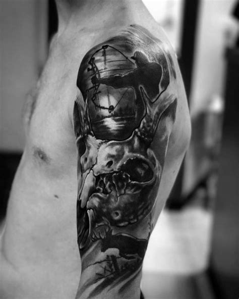 Top 53 Best Bowhunting Tattoos For Men [2020 Inspiration Guide]