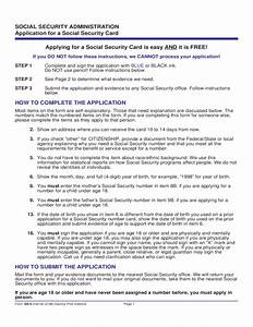 Social Security Card Application Form Georgia Free Download