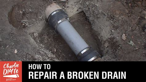How To Repair A Broken Clay Drainage Pipe Youtube