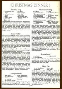 Menus 1954 Copyright The National Magazine Co Ltd Christmas Dinner 1