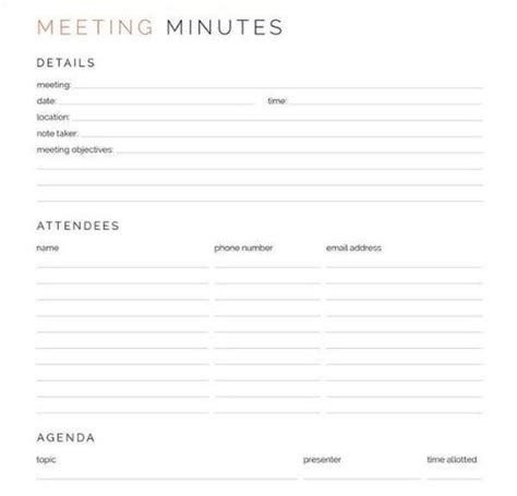 construction meeting minutes templates google