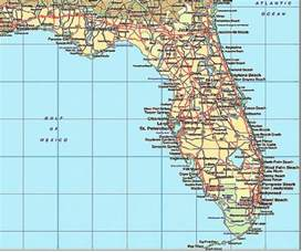 Florida Map with Cities and Beaches