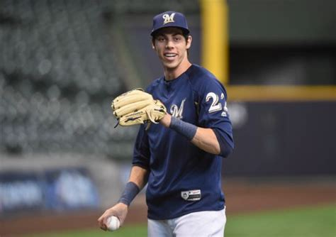 Christian Yelich Home At Dodger Stadium With Brewers