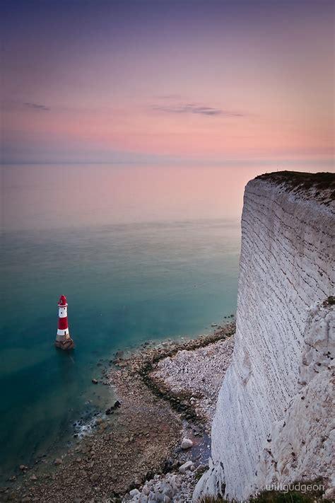 beachy head lighthouse sunset  willgudgeon redbubble