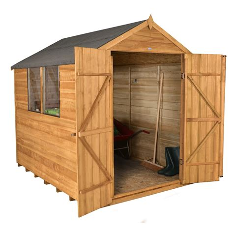 shed door wood 8 x 6 overlap apex wooden garden shed with 2 windows and