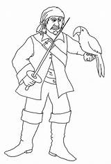 Coloring Pages Pirate Pirates Parrot Pittsburgh Clipartqueen Looking sketch template