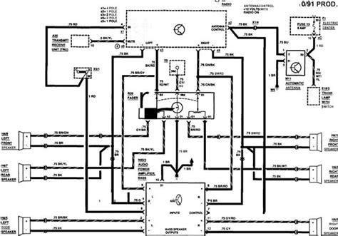 w124 factory radio wiring schematics mbworld org