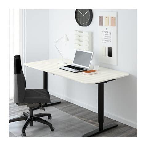 bekant sit stand desk bekant desk sit stand white black 160x80 cm ikea