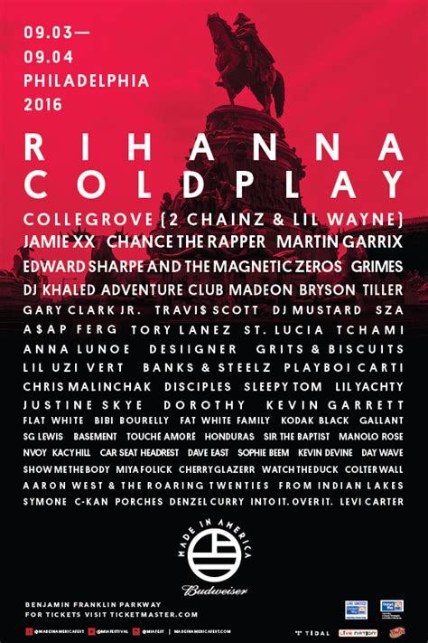Made In America Festival 2016 Lineup Announced Featuring ...
