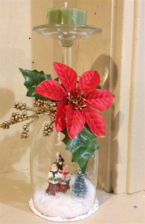 wine glass snow globes craft projects   fan