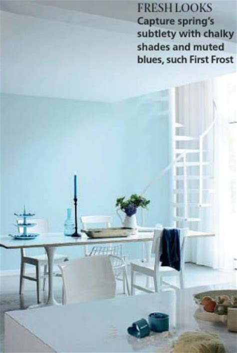 paint palette muted light blue interiors  color