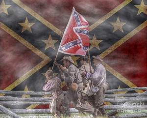 The Last Charge Confederate Flag Version Digital Art by