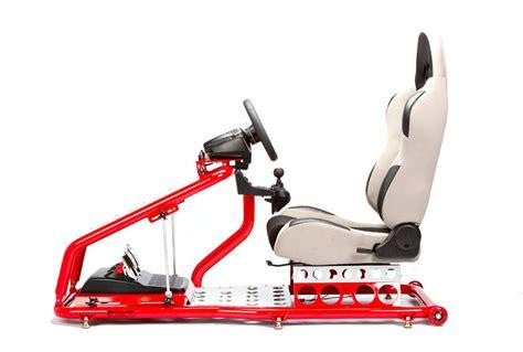 race gaming simulation racing chair seat gray ebay