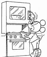 Coloring Mickey Oven Setting Votos sketch template