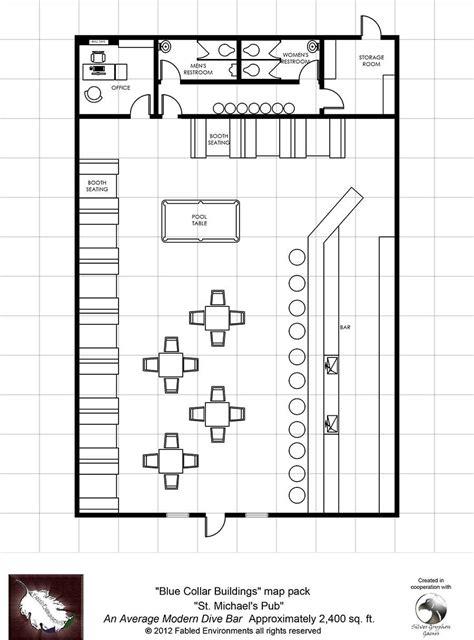 bar floor plans modern floorplans st michael s pub an average modern dive bar fabled environments modern