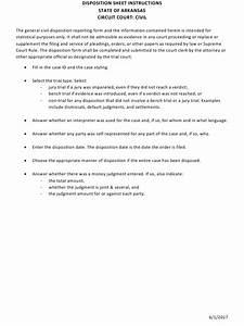 Arkansas Civil Disposition Sheet Instructions Download